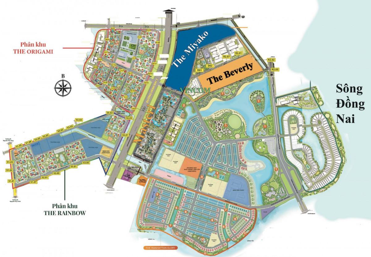 Sơ đồ tổng thể dự án Vinhomes Grand Park